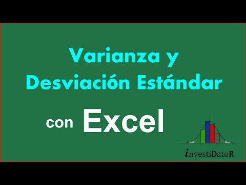 Embedded thumbnail for Varianza y Desviacion Estandar con Excel